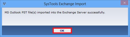 Outlook PST file to Exchange import