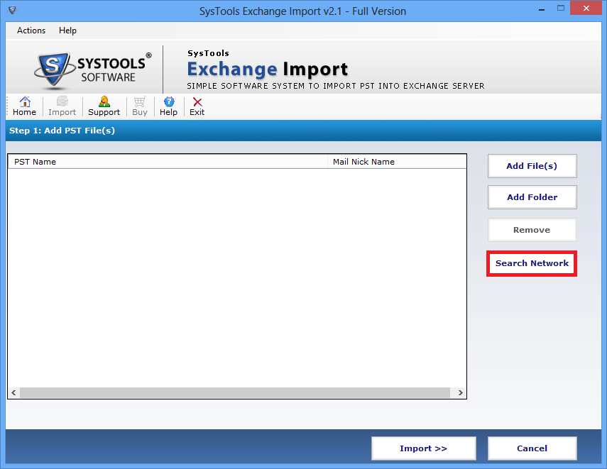 Import Outlook PST into Exchange server