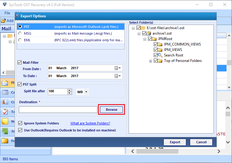 convert OST file to PST Outlook 2010