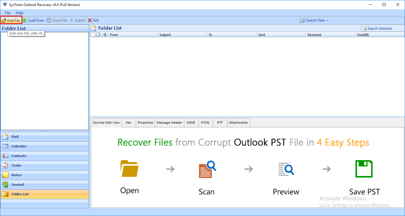 Outlook Recovery Software